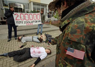 15. Oktober 2009 - Friedensprotest in Kassel.